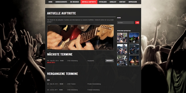 WEBSITES/HOMEPAGE für Musiker und Bands – CREATIV – Webdesign|Online ...